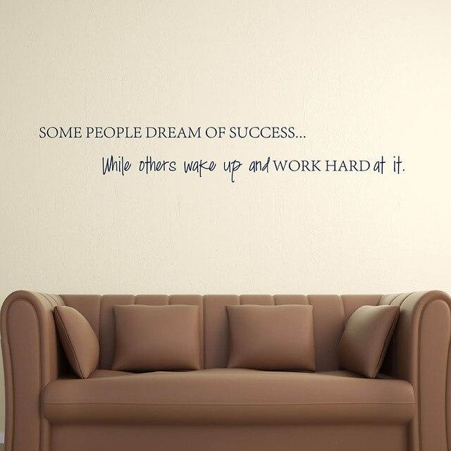 Citaten Koffie English : Aliexpress.com: koop engels citaat wakker werken hard aan uw dromen