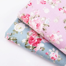 Hot Sale Floral Printing Cotton Twill Fabric Sewing Quilting Soft Skin-Friendly Woven For Dress Cloth Bedding