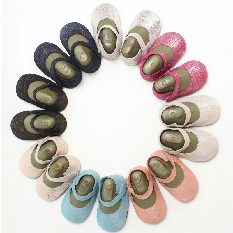 2017 elegante diseño Hook & Loop 8 colores recién nacido del bebé zapatos de beb