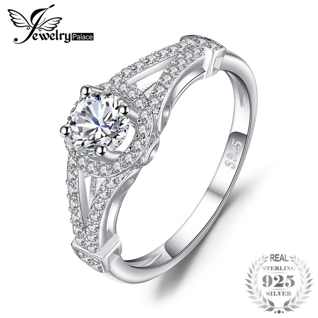 JewelryPalace Gorgeous Bridal Anniversary Ring 925 Sterling Silver Beautiful For Women Gift Birthday Present Girlfriend