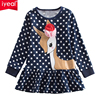 IYEAL Children Casual Dresses Girls Clothing Deer Pattern 100 Cotton Long Sleeve Toddler Baby Girls Dress