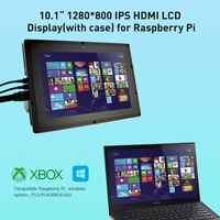 Elegrow-pantalla táctil Raspberry Pi IPS de 10,1 pulgadas, Monitor LCD HDMI de 1280x800, para Raspberry Pi 3, 2, Windows 10/8/7