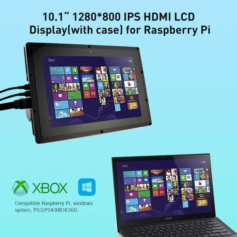 Elecrow Raspberry Pi Screen IPS 10.1 Inch Touchscreen HDMI LCD Monitor 1280*<font><b>800</b></font> Display for Raspberry Pi <font><b>3</b></font> 2 Windows 10/8/<font><b>7</b></font> image