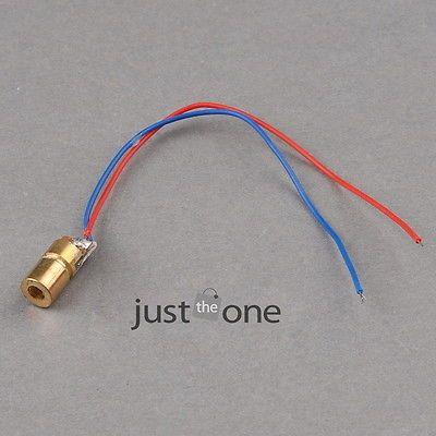 650nm 6mm DC 5V 5mW Mini Laser Dot-shaped Diode Module WL Red Copper Head Tube  68