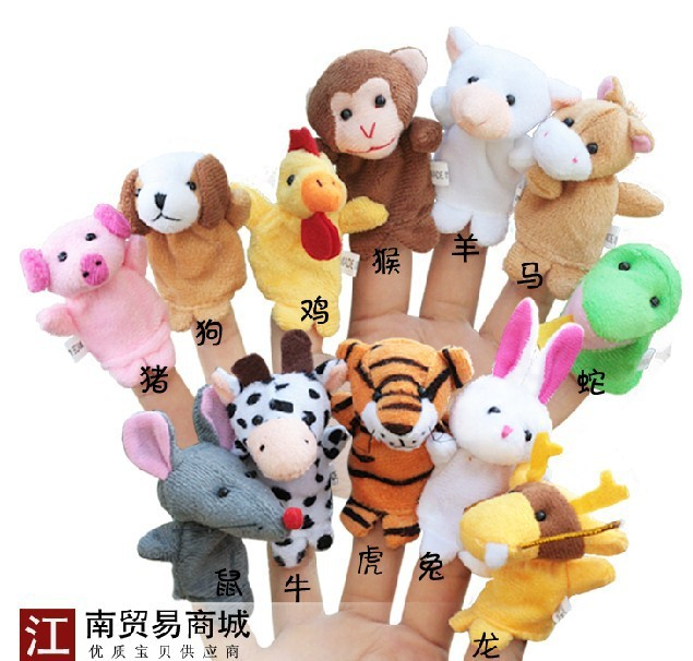 Супер милый 7 см 12 шт. китайский зодиак творческий животных образование сна история плюшевые успокоить пальцем кукольный кукла игры подарок для ребенка