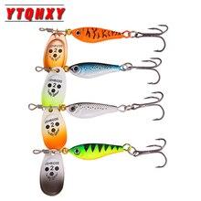 Hot 4pcs Spinner Bait Longcast Fishing Lure 11g 15g 20g Artificial Pesca Metal Spoon Wobbler With Treble Hook WQ194DB