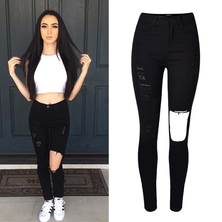 Popular Fashion Black Jeans-Buy Cheap Fashion Black Jeans lots ...