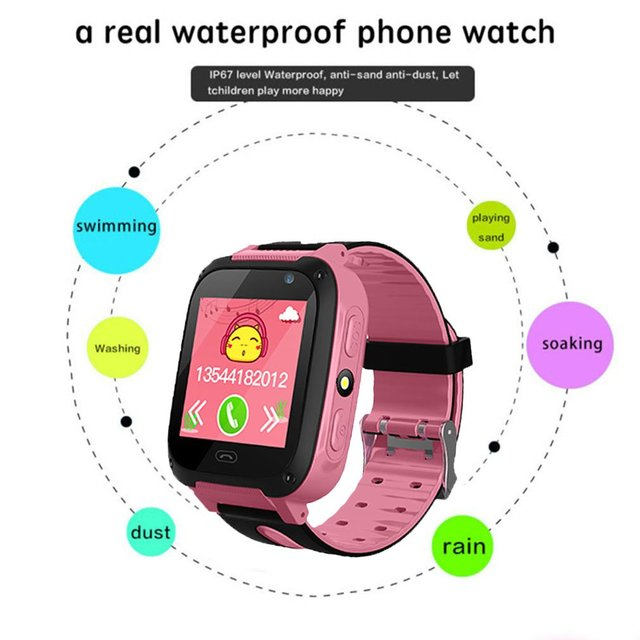 V6 Children Baby Smart Watch With Camera Anti Lost Monitor SOS Phone Safe Watch