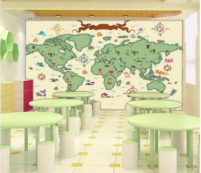 Hand Drawn Map Of The World.Customized 3d Photo Wallpaper 3d Wall Mural Wallpaper Hd Hand Drawn