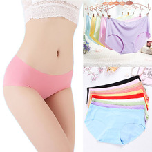 LNRRABC 2018 Hot Sale Seamless Briefs Everyday Underwear Women Panties Traceless Raw-cut Hipster Pink intimate