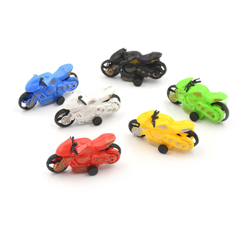 2 Pcs Children Kids Gifts Children's Educational Toys Motor Bike Model Pull Back Motorcycle Vehicle Toys image