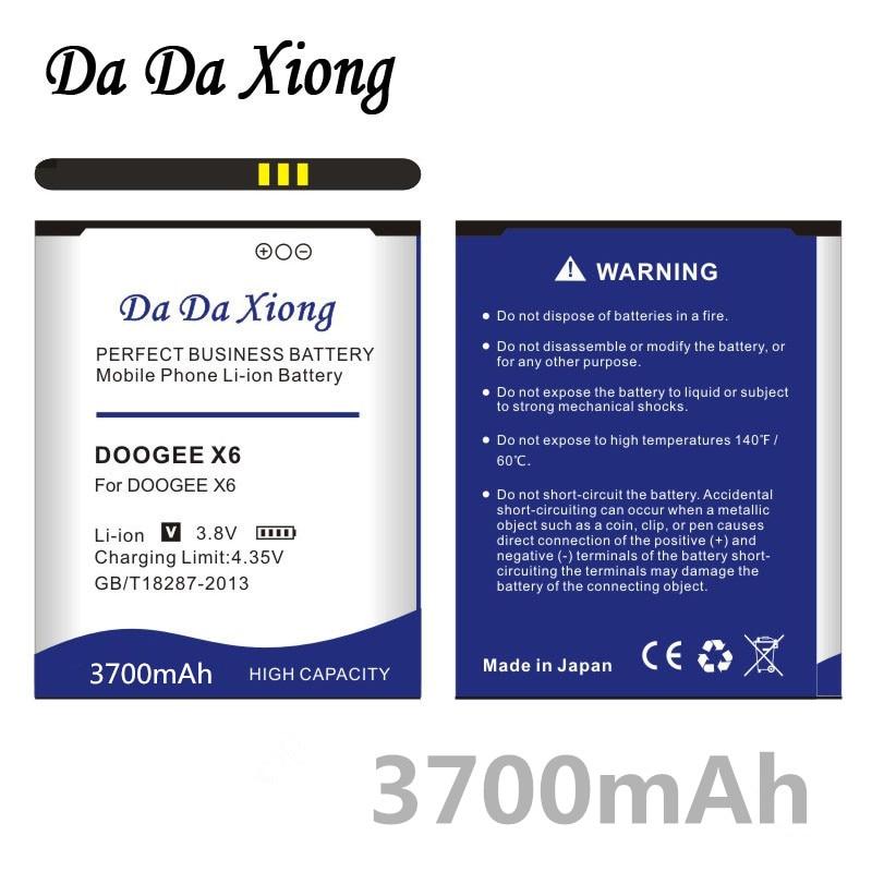 Da Da Xiong 3700mAh x6 X6 X6 Bateria para DOOGEE DOOGEE DOOGEE pro