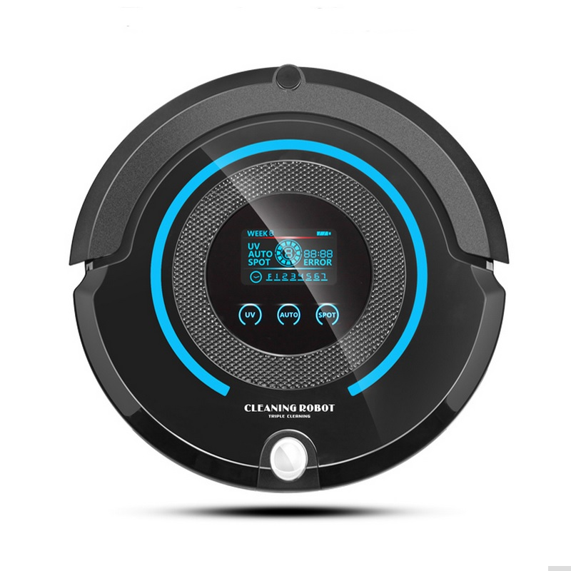 2017 Most Advanced Robot Vacuum Cleaner For Home (Sweep,Vacuum,Mop,Sterilize) With Remote control, LCD touch screen, schedule most advanced robot vacuum cleaner multifunctional sweep vacuum mop sterilize touch screen schedule 2 side brush self recharge