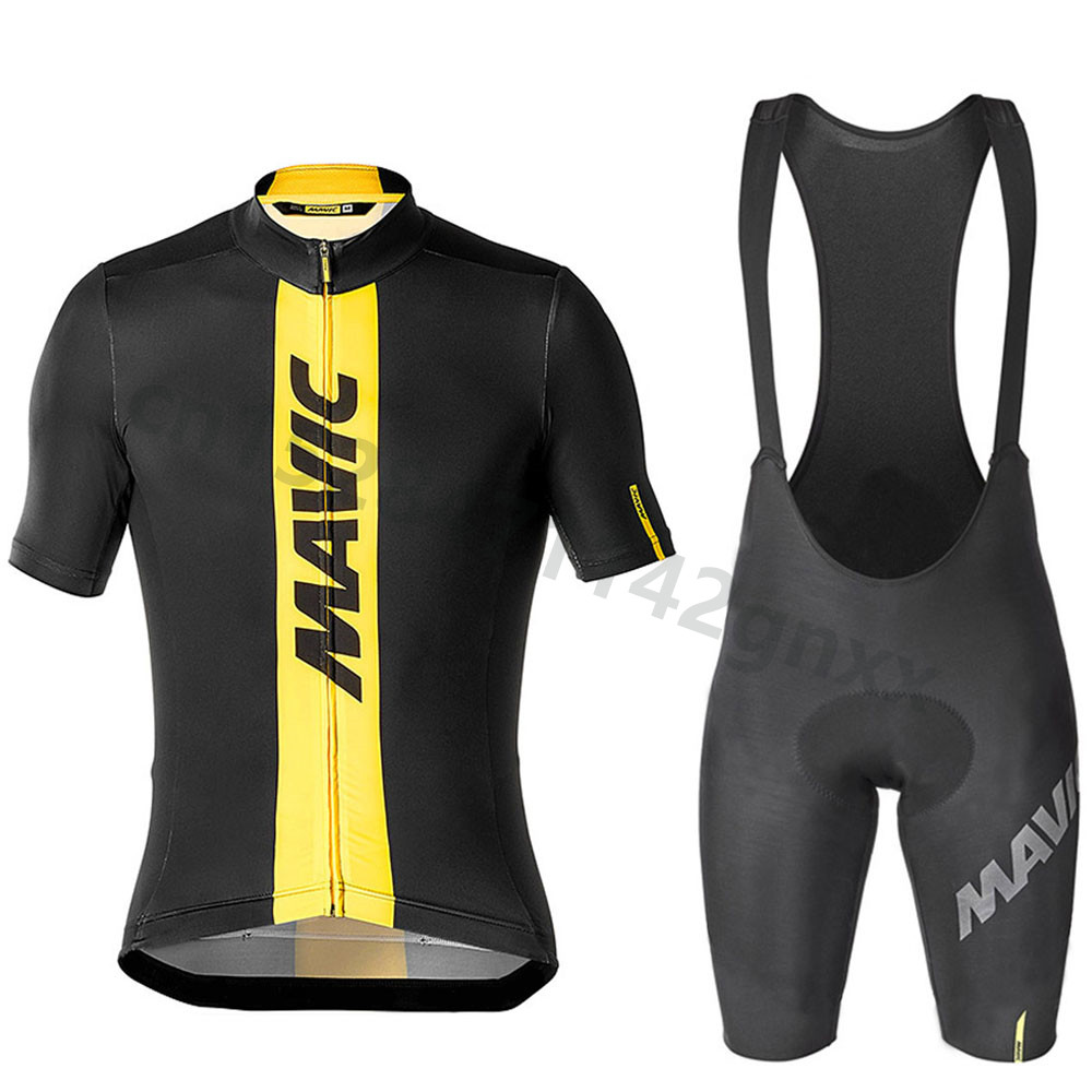 2019 new pro team MAVIC cycling jersey Set MTB Bike Clothing men Summer quick dry racing bicycle clothes ropa ciclismo hombre in Cycling Sets from Sports Entertainment