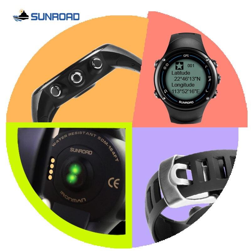 Reloj Digital SUNROAD inteligente GPS para hombre con frecuencia cardíaca con 50 m de carga USB resistente al agua corriendo senderismo jogging reloj de pulsera - 4