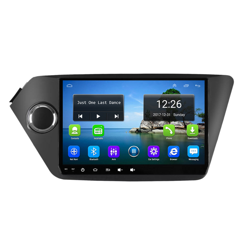 Android 4G LTE HD 1080P car MP3 MP4 Music 4 core 2GB DDR3 map front camera excellent bluetooth precise GPS for KIa K2 RIO 9inch