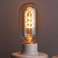 Lightinbox цена оптовой продажи 40 шт 40 Вт 220 В Ретро Эдисон T45 Книги по искусству украшения лампочки E27 накаливания Винтаж лампы