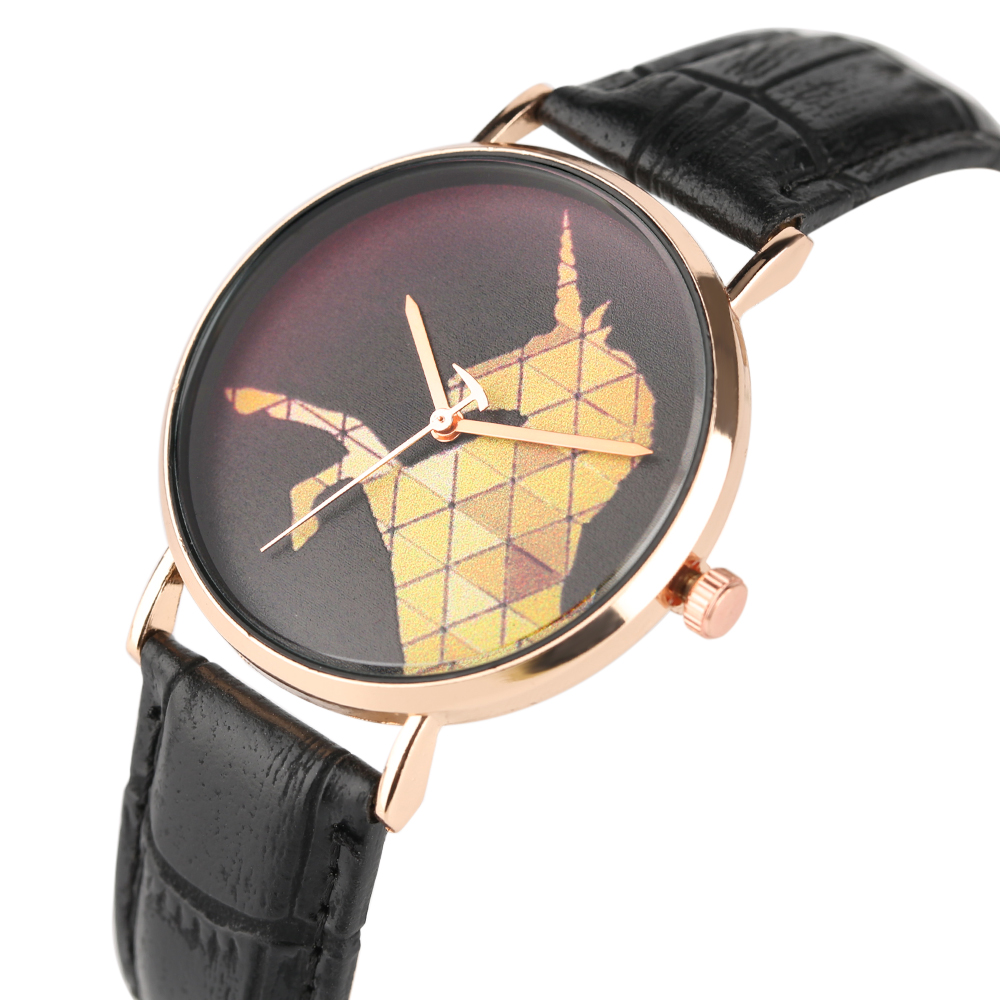 WristWatch Trendy Elegant Fashion Women Female Quartz Analog Simple Unicorn Casual Leather Ladies Dress Watches Clock 2019 New