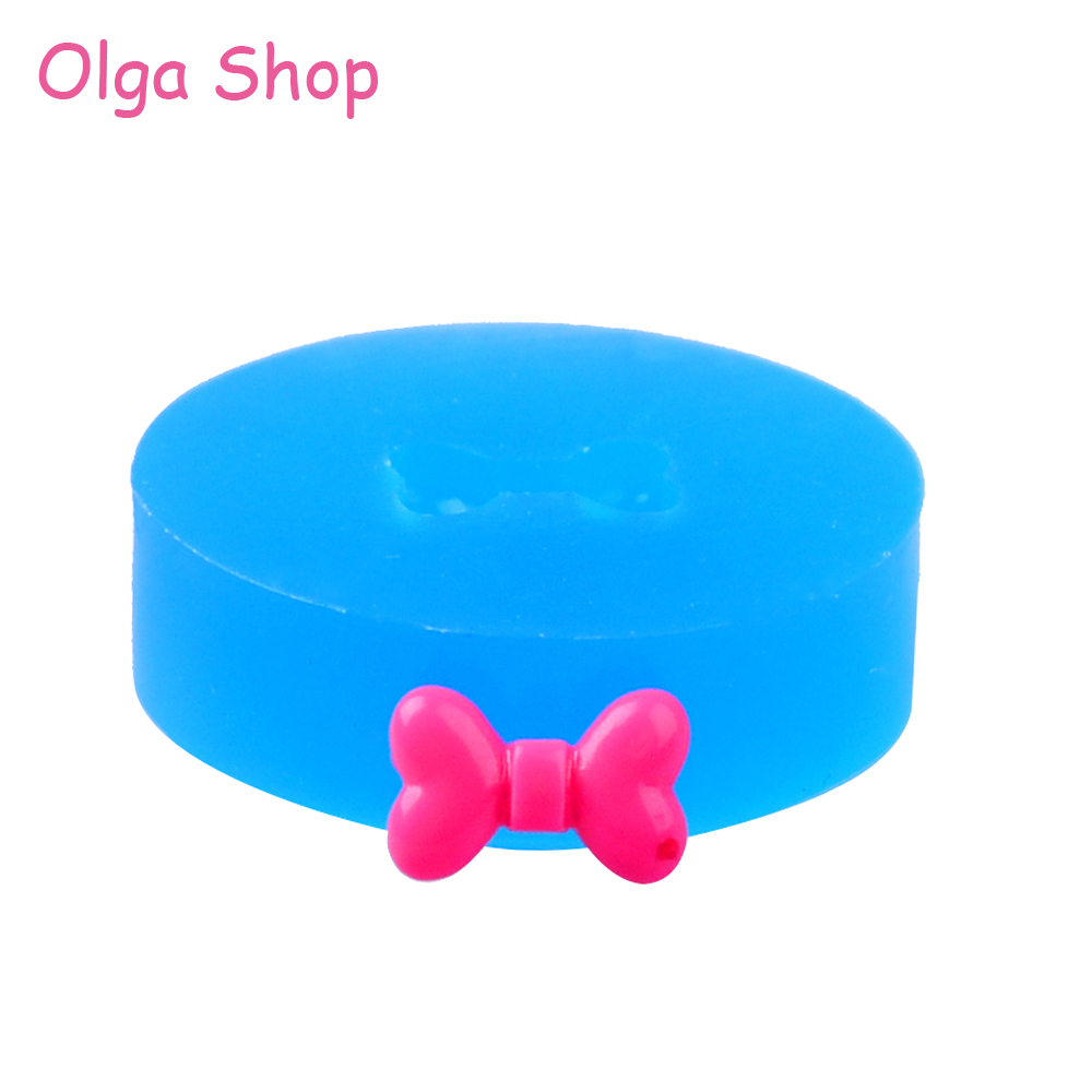 Diy Handmade Fyl520 11.3mm Bowknot Silicone Mold Candy Resin Jewelry Making Sugarcraft Bow Mold Miniature Food Fondant
