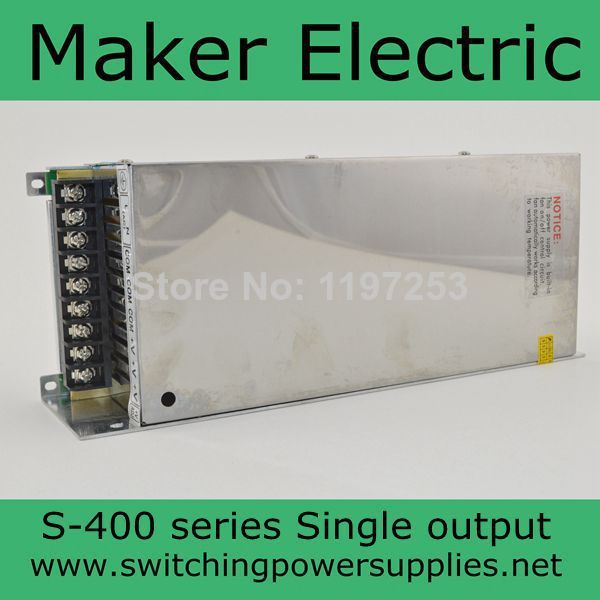 hot supplying 24v 400w Switching LED Power Supply Transformer supply S-400-24 16A in stock цена