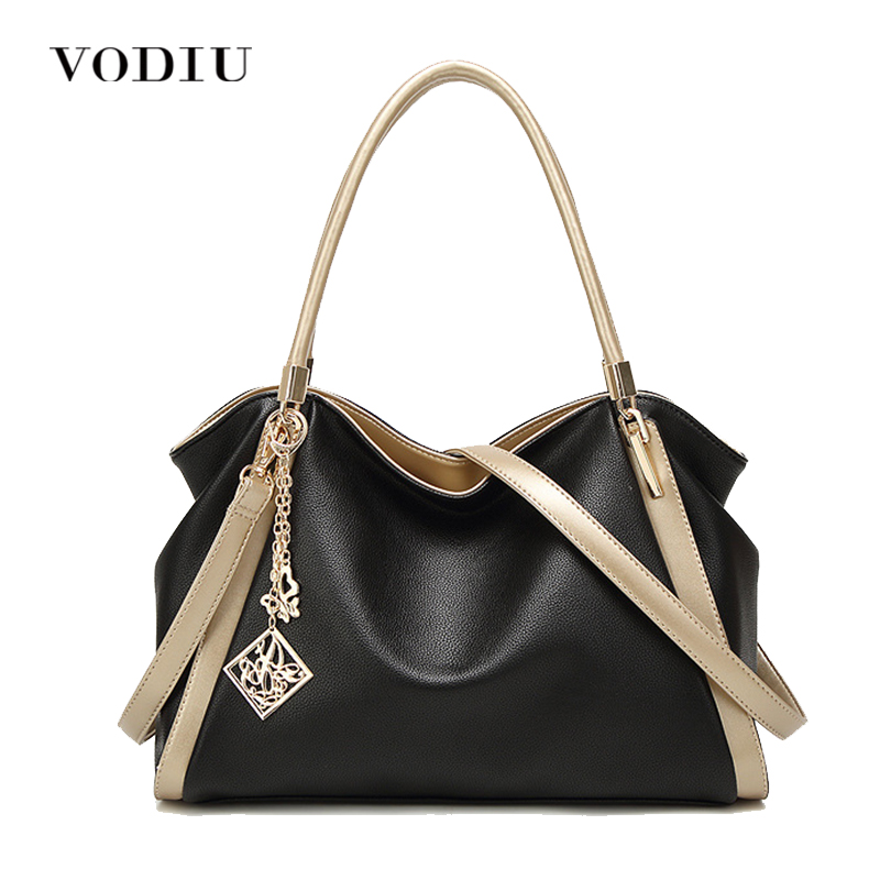 Women Handbags Leather Messenger Women Shoulder Bag Pendant Sling Large Capacity Casual Tote Female Crossbody Handbag Vintage