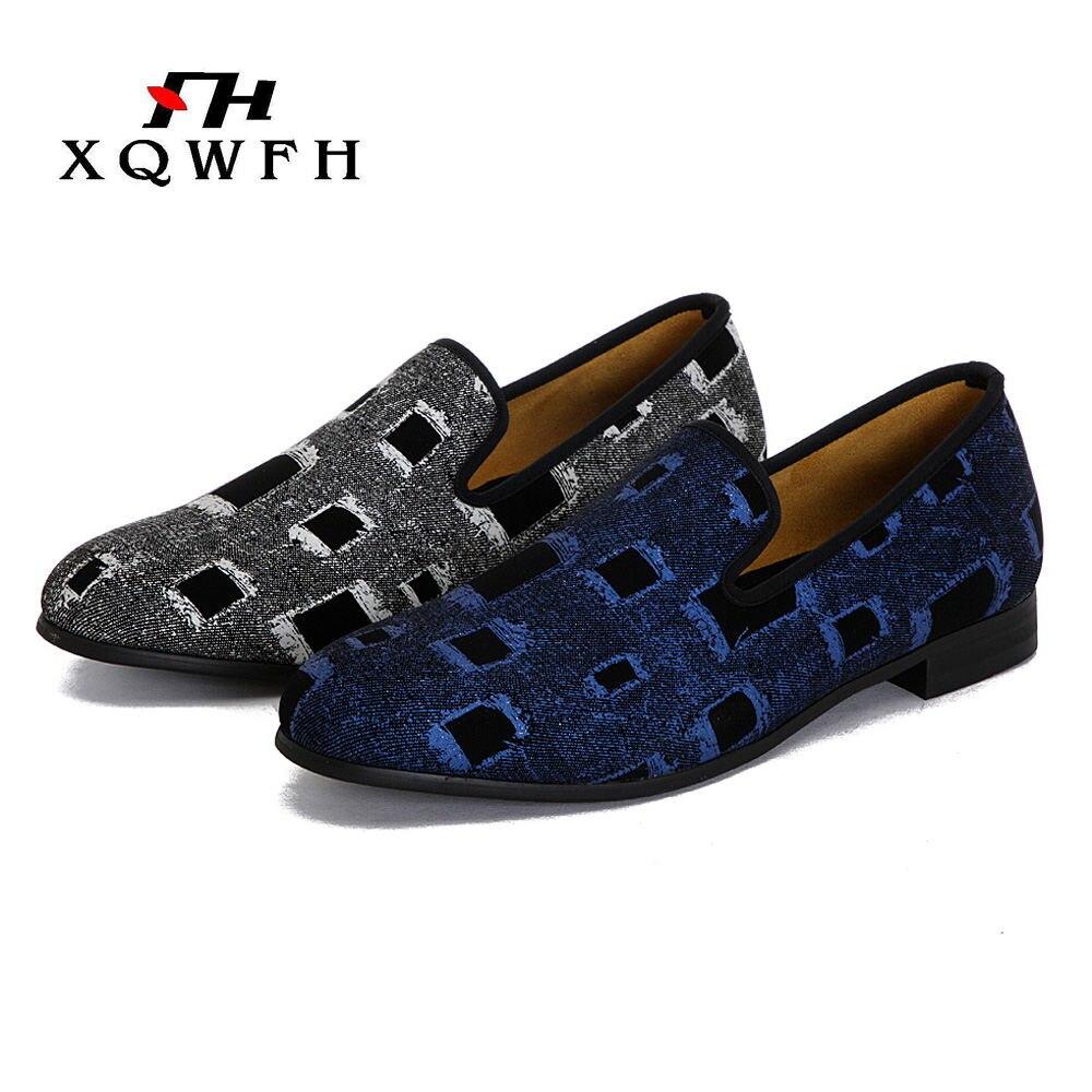 Los zapatos de los hombres Multicolor Print camuflaje mocasines nueva llegada brillante mocasines estilo británico Footwer-in Mocasines from zapatos    2