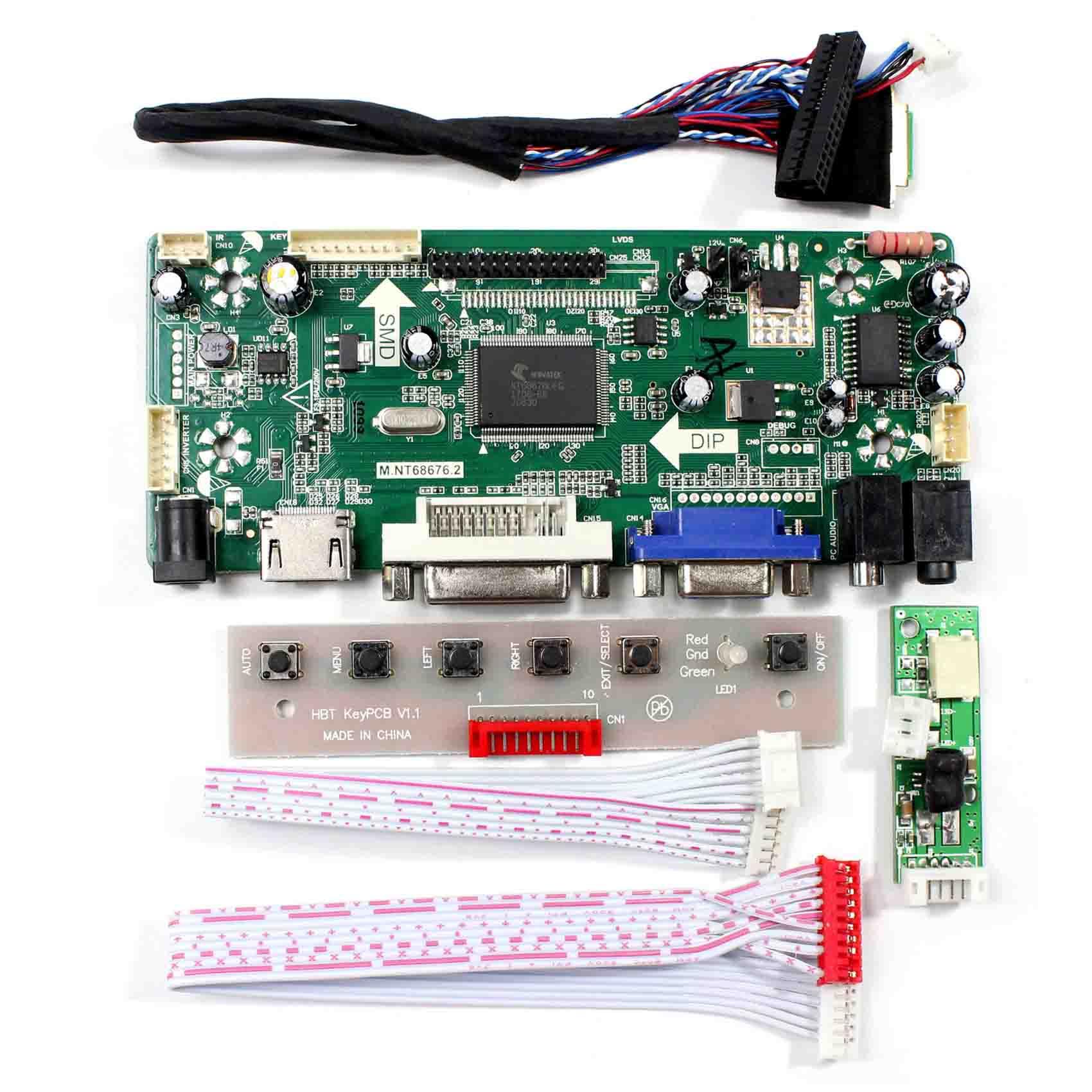 HDMI+VGA+DVI+Audio Controller Board Work For 9 7inch 1024X768 LTN097XL01  LCD Screen