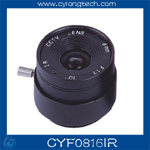 Free Shipping 1/3'' F1.6 CS  Fixed Iris  8mm IR Lens  CCTV Camera Professional Lens 8mm 12mm 16mm cctv ir cs metal lens for cctv video cameras support cs mount 1 3 format f1 2 fixed iris manual focus