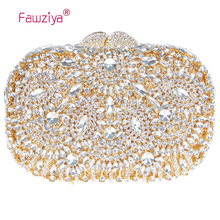 Fawziya Clutch Bag Casual Rotating Flower Purses For Women Luxury Rhinestone Crystal Clutch Bag