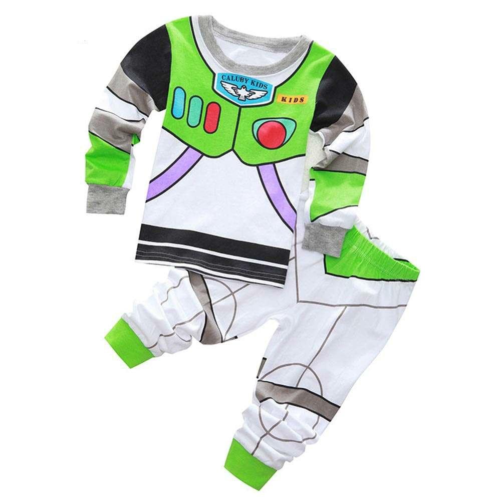 Neue Ankunft Kleinkind Jungen Kleidung Set Buzz Lightyear Kinder Pyjamas Set Cartoon kinder pyjama T-shirt + Hosen Jungen Kleidung set