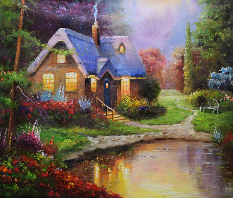 Post a painting that reflects your inner personality Hand-Painted-font-b-European-b-font-Style-font-b-Oil-b-font-Canvas-font-b
