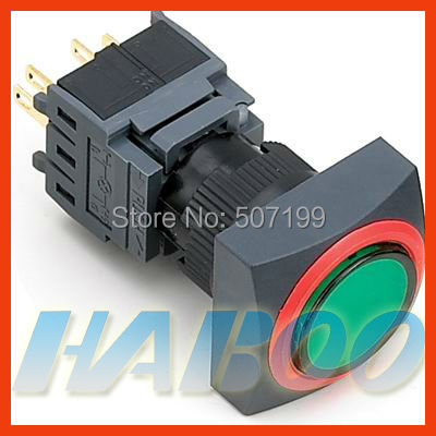 HABOO 16mm reset push button switch 2NO+2NC waterpfoor electric switch IP65 5A 250V
