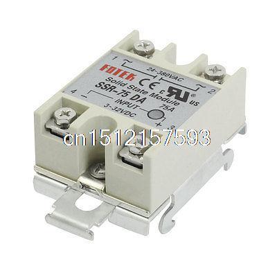 цена на DC 3-32V Input Temperature Control Solid State Relay w DIN Rail 75A SSR-75DA