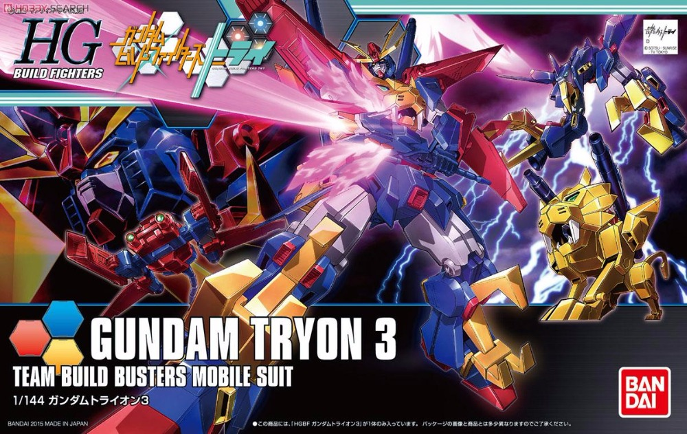 1PCS Bandai HG Build Fighters HGBF 038 1/144 Gundam Tryon 3 Mobile Suit Assembly Model Kits Anime action figure Gunpla игрушки из сериалов gundam bandai hgbf 38 038 gundam tryon zz