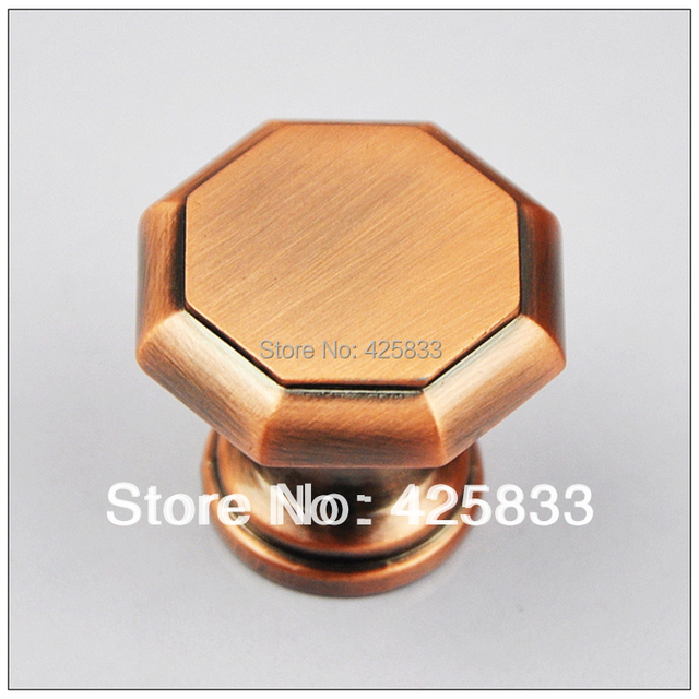 Hot 2pcs Red Bronze Desk Knobs Drawer Pull Door Kids Handle Drawer Pulls Kids Dresser Knobs Granite Wholesale Bulk