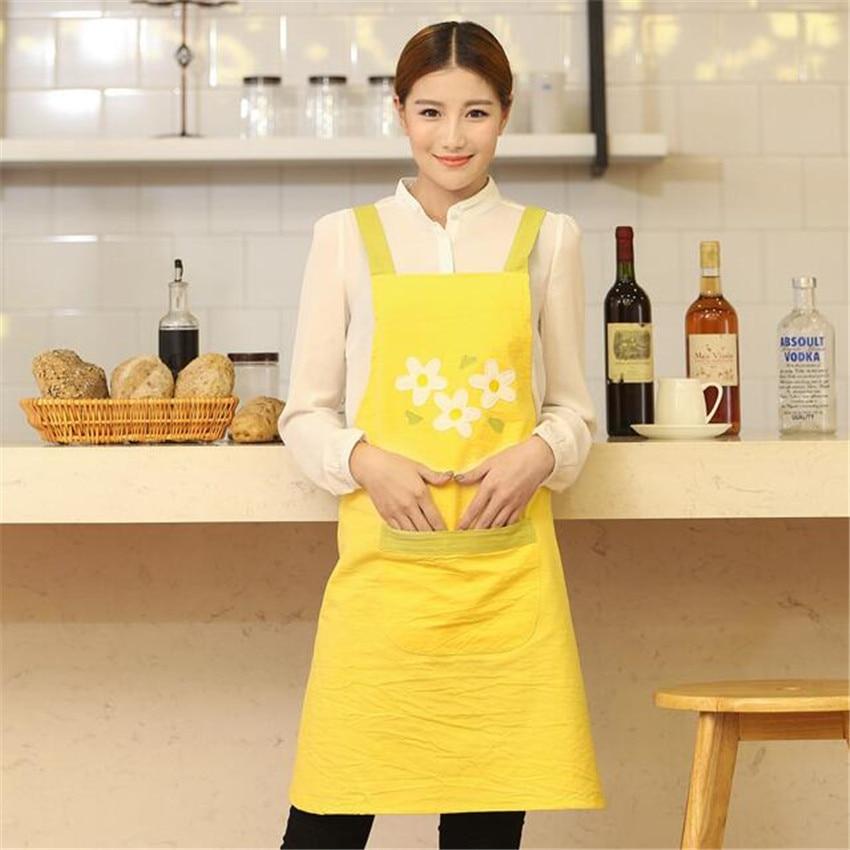 Nowe Fartuchy bez rękawów Kindergarten Nail Tea Coffee Shop Kuchenne pieczenie Restauracje Kelnerzy Fartuchy robocze dla kobiet LOGO