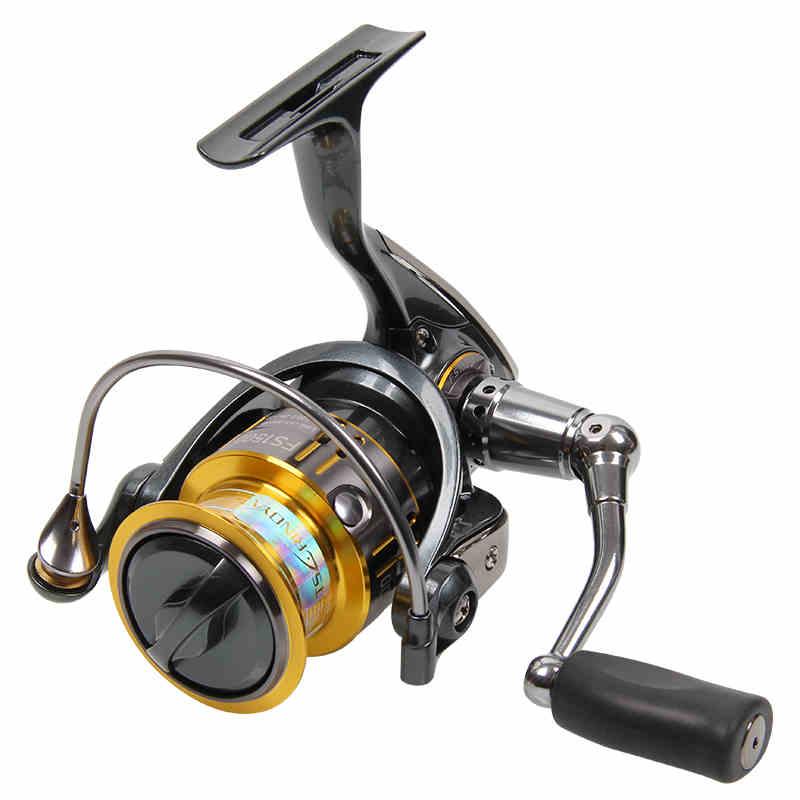 ФОТО TRULINOYA Spinning Fishing Reel 9+1BB 5.2:1 Metal Spool Aluminium Handle Salt Water moulinet Fishing Reels FS1500/2000 iscas