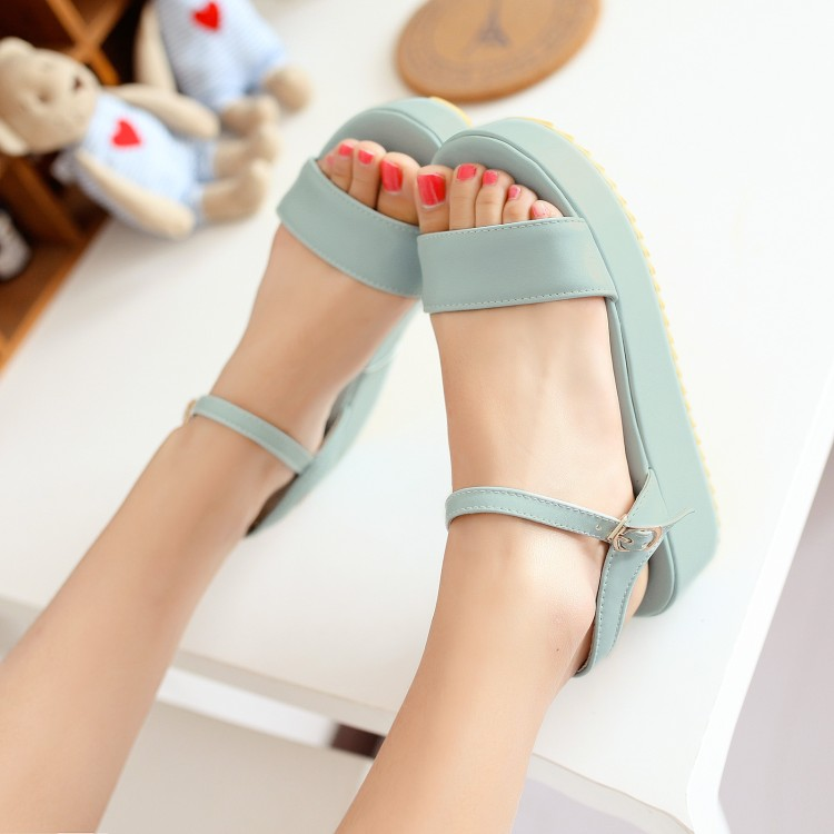 Big Size 9 10 11-19 ladies summer platform sandals women shoes woman  Sponge cake with a thick bottom and a hollowed-out wedge hBig Size 9 10 11-19 ladies summer platform sandals women shoes woman  Sponge cake with a thick bottom and a hollowed-out wedge h