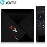 VONTAR X99 4 ГБ 32 ГБ Android ТВ Box Rockchip RK3399 Поддерживающий Тип C USB3.0 потокового коробка с Google Play магазин Netflix Youtube
