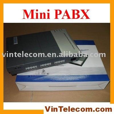 Bonne qualité VinTelecom usine CS416 Téléphone système/PBX/PABX avec 4 Lignes x 16 Ext. ports téléphoniques-Vente CHAUDE