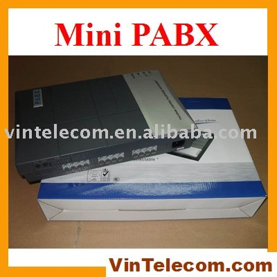 Good quality VinTelecom factory CS416 Phone system / PBX / PABX with 4 Lines x 16 Ext. phone ports - HOT Sell china factory manufacturer vintelecom cs308 pbx with 3 input lines