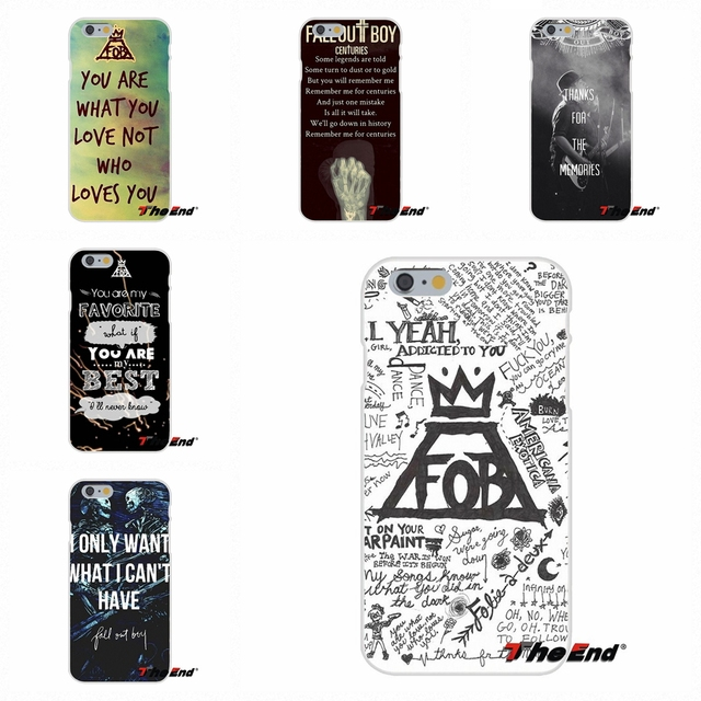 uk availability bc07c dcfb0 US $0.99 |Fashion Fall Out Boy FOB Band Pattern Silicone Phone Case For  Samsung Galaxy A3 A5 A7 J1 J2 J3 J5 J7 2015 2016 2017-in Half-wrapped Case  ...