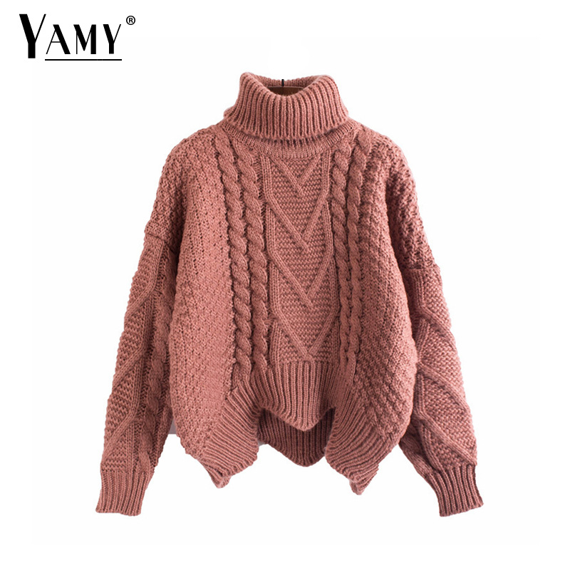 Winter Vintage Knitted Thick Turtleneck Sweater Women Loose Casual Korean  Pullovers Christmas Sweaters Autumn 6e2c7a66a