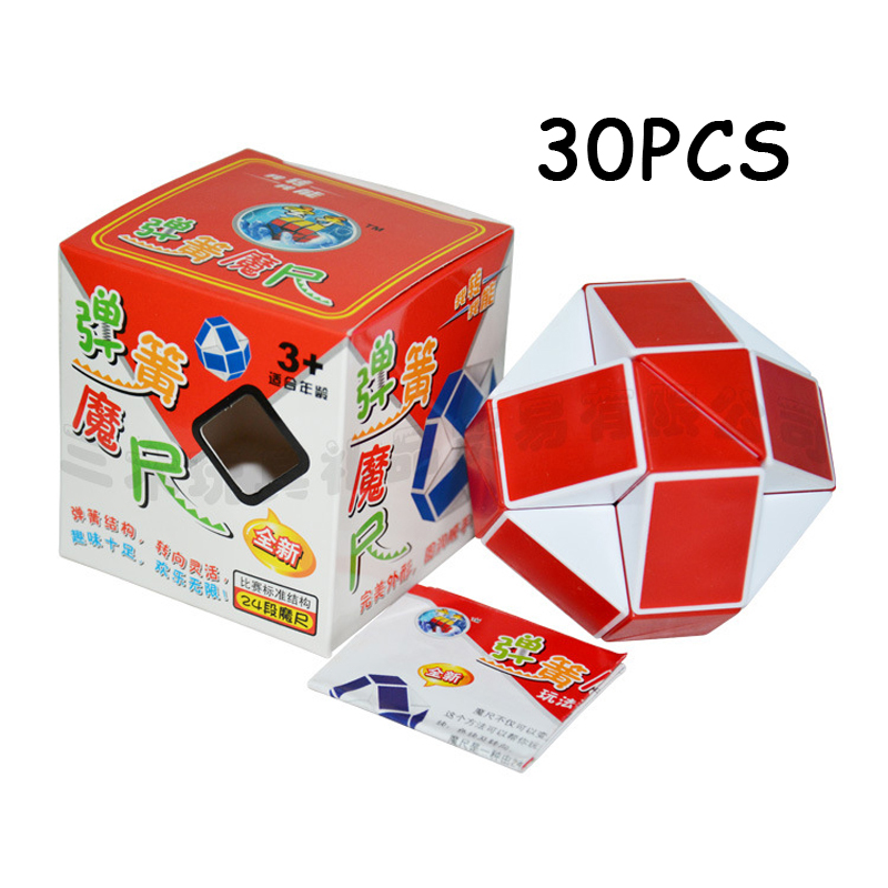 Puzzles & Games Humble 30pcs Shengshou Red White 24 Sections Cubo Magico Snake Ruler Magic Cube Speed Twist Puzzle Toys For Children Anti Stress Toys To Clear Out Annoyance And Quench Thirst Toys & Hobbies