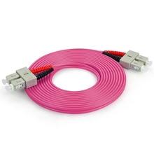 цена на 3m (10ft) SC UPC to SC UPC Duplex OM4 Multimode OFNP 3.0mm Fiber Optic Patch Cable