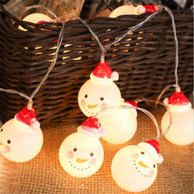 Lovely snowman fairy string lights santa Led Christmas light home garden indoor party wedding Christmas decoration(China)