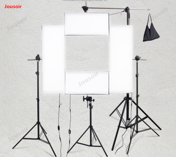 Portrait cloth light kit Lamp Photography Set 4 pieces of studio video movie fabric lamp can curl high power CD50 T03