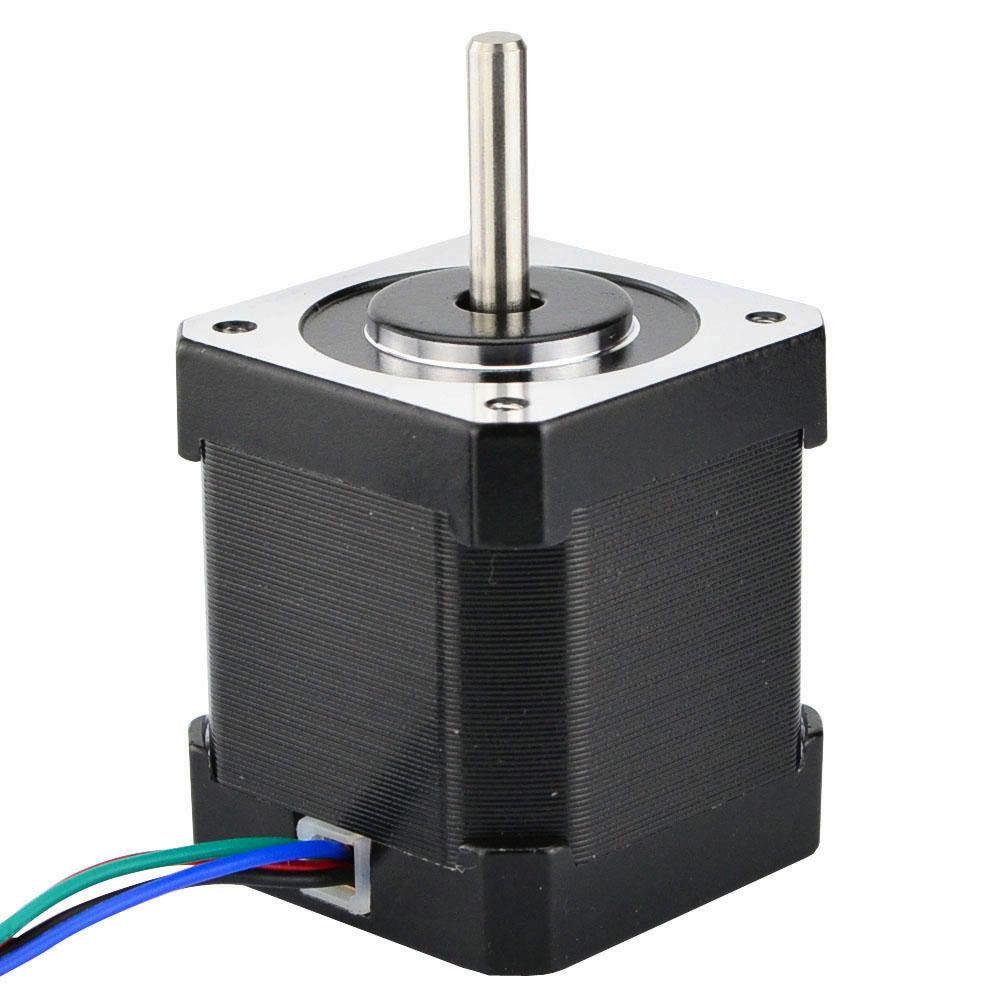 5 pièces Nema 17 moteur pas à pas 4 fils 48mm 59Ncm (84oz. in) 2A 1 m câble (17HS4801) Nema17 moteur pas à pas pour bricolage imprimante 3D CNC Robot XYZ - 3
