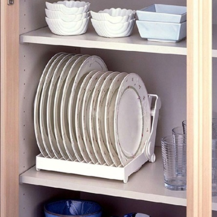 Mylb Kitchen Foldable Dish Plate Drying Rack Organizer Drainer Plastic Storage Holder