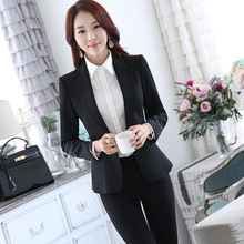 2016 Pantalones Mujer Women Evening Pant Suits Autumn Winter New Occupation Dress Suit Trousers Sleeved Code Ol's Interview.